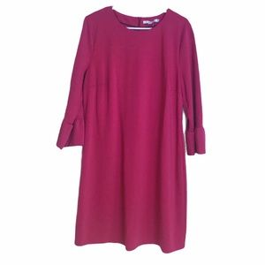 Boden Pink Flare Sleeve Shift Dress Size 16